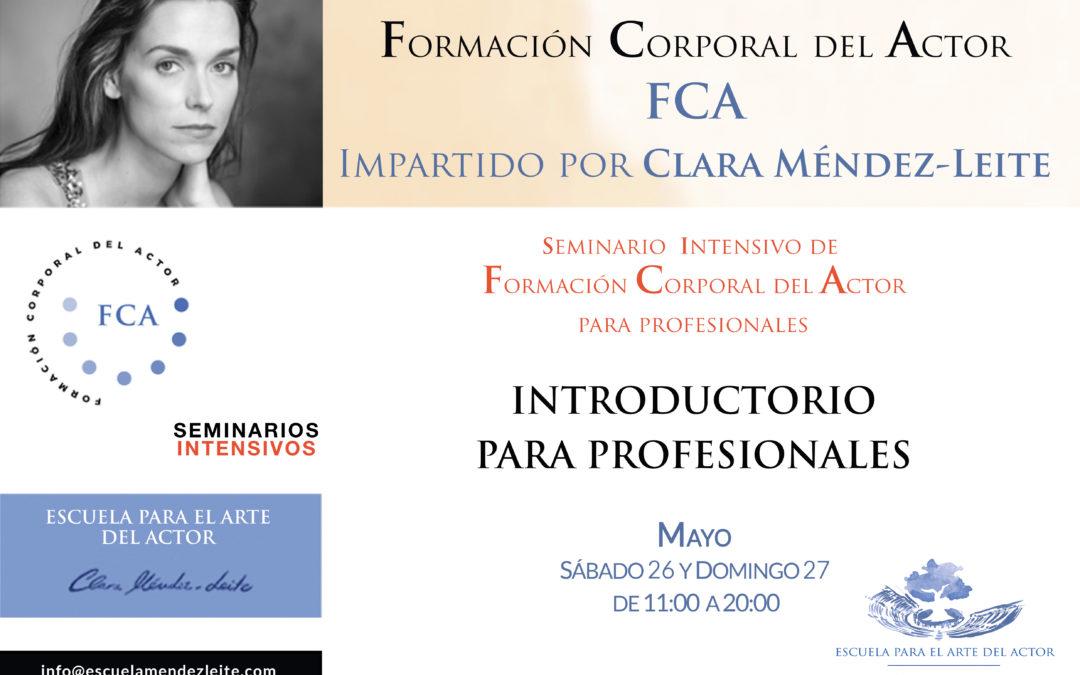 Formación corporal del Actor: Introductorio para profesionales.