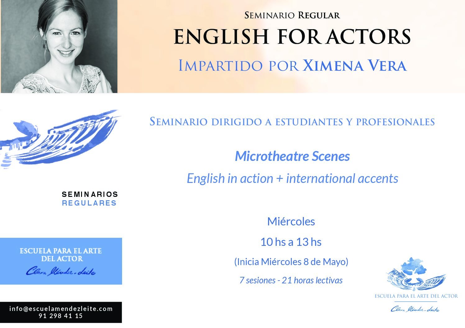 "Seminario regular ""English for actors"""